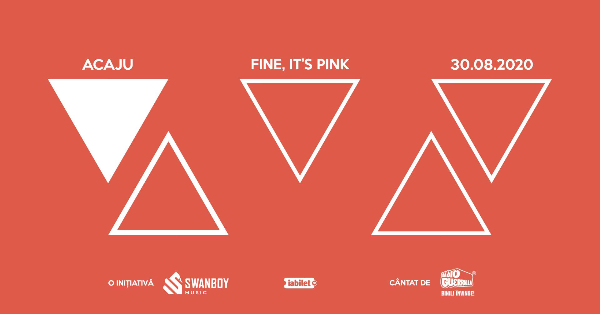 Concert Fine, it's Pink