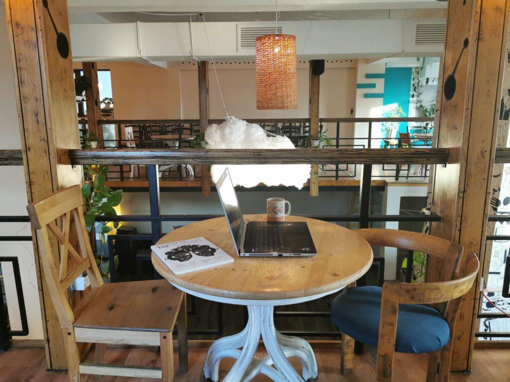 Imagine masă coworking